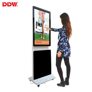 Customized 55 inch rotating display advertisement LG floor standing rotating digital signage for shopping centre