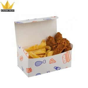 Disposable Fast food hamburger take out lunch food grade paper box