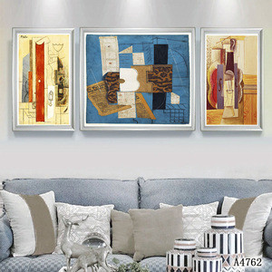 Dongjin factory supply canvas painting wall arts framed oil painting handmade for wall decoration