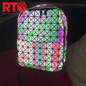 Fashion Rainbow Clothing Bag Reflective Material