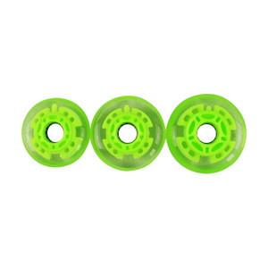 Flashing LED PU inline skate roller wheel