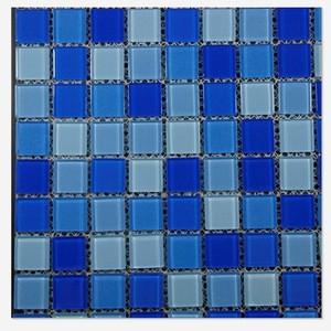 Foshan Blue Swimming Pool tile Glass Mosaic