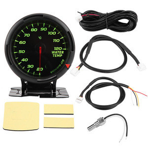 """Hot Selling 12V 64 Color LED Backlight Water Temperature Gauge 20-120  with Sensor NPT1/8"""" for Auto Racer"""