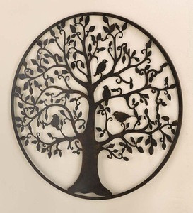 Indoor and outdoor laser cut wall decor art with customized design