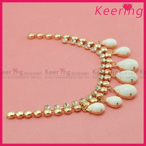 Jewelry fashion gold chain costume chain belt with bead