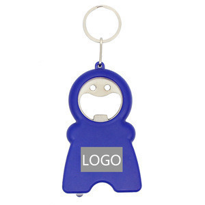 LED Tape Measure Keychain With Opener