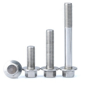 M6, M8 Stainless Steel A2-70 Hex Flange Bolts in stock