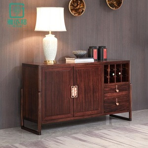 Modern solid wood restaurant buffet sideboard cabinet with drawers