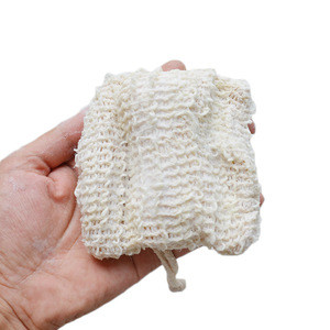 Natural plants, cotton and linen soap bags,handmade soap sisal bathingfoaming net,