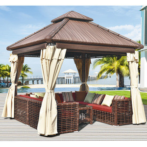 Outdoor furniture wicker house patio furniture garden set outdoor gazebo