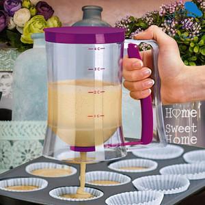 Pancake Cupcake Batter Dispenser Tool With Measuring Label