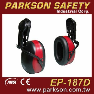 PARKSON SAFETY Taiwan Double Color Fashion Design Metal Free Earmuff Ear Protector For Safety Helmet ANSI S3.19 CE EN352 EP-187D