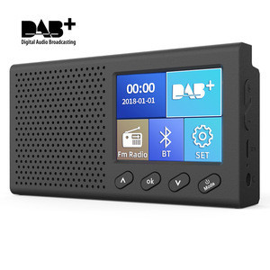 Portable FM radio Mini DAB/DAB radio+ Digital Radio FM Receiver with 3W Bluetooth Speaker
