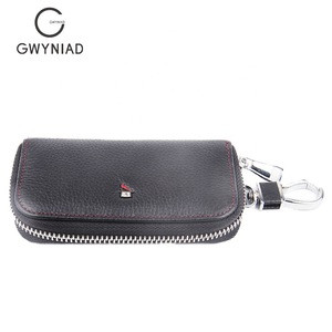 Professional hyundai leather key wallet card wallet with key chain key pouch wallet