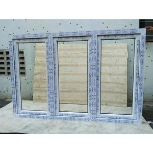 PVC casement door glass window in guangzhou mingqi