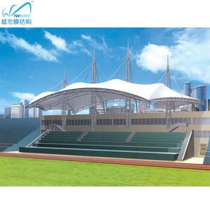 Pvdf fabric tensile steel architecture membrane structure stadium roofing