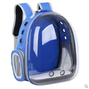 Summer Breathable Outdoor Travel Transparent Space Capsule Pet Carrier Cat Show Backpack Bag For Pet