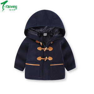 Toddler Kids Baby Boys Autumn Winter children Hooded Coat Cloak Jacket Thick Warm Clothes