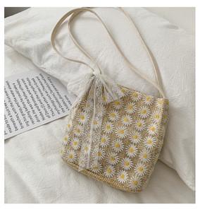 UNKGO XM8767 Fashion 2020 Small Bag Women Candy Color weaving Messenger Bags Female Handbag Shoulder Bag