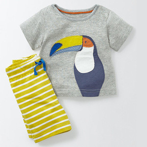 WG2102 New Fashion Kids Clothes Boys Summer Set T Shirt + Short Boy Clothing Sets