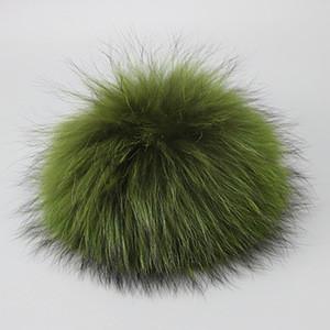 XR15 Fur Pompom For Hat Real Raccoon Fur Pom Poms