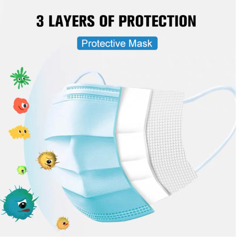 CE FDA certified Disposable Medical 3 Layer Mask