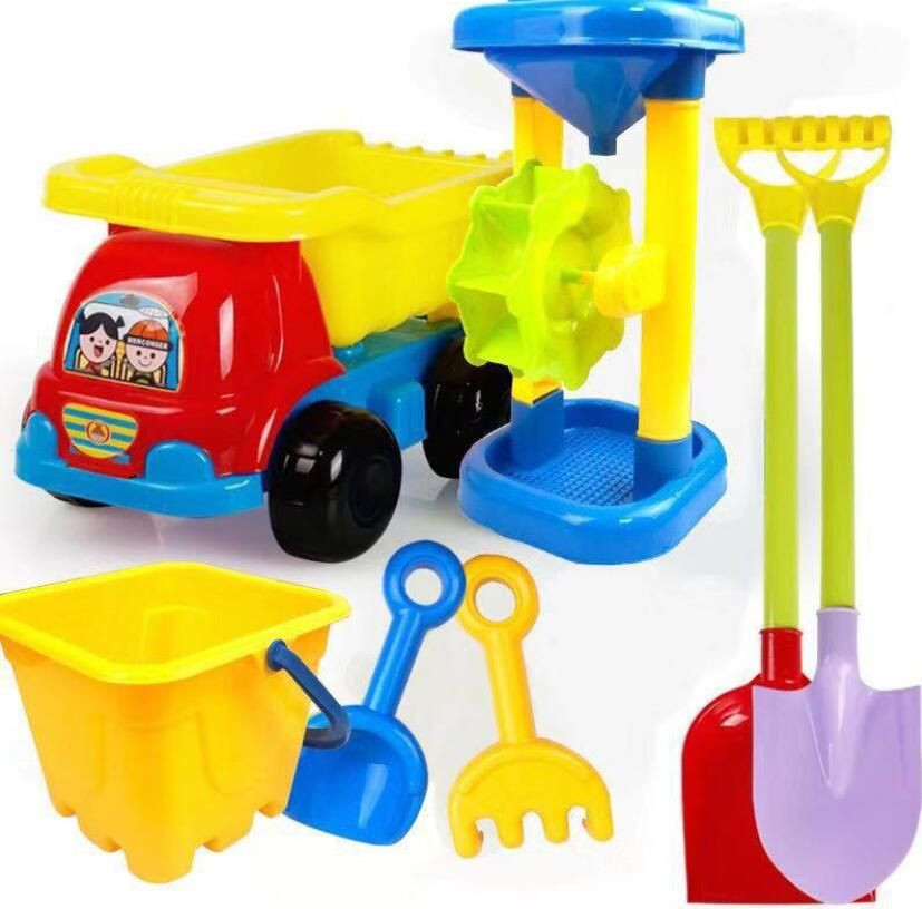 2020 Hot Sale Outdoor Sandbeach Toys Bucket Shovel Toddler Kids Children Beach Sand Toy Set Kids Plastic Beach Toys