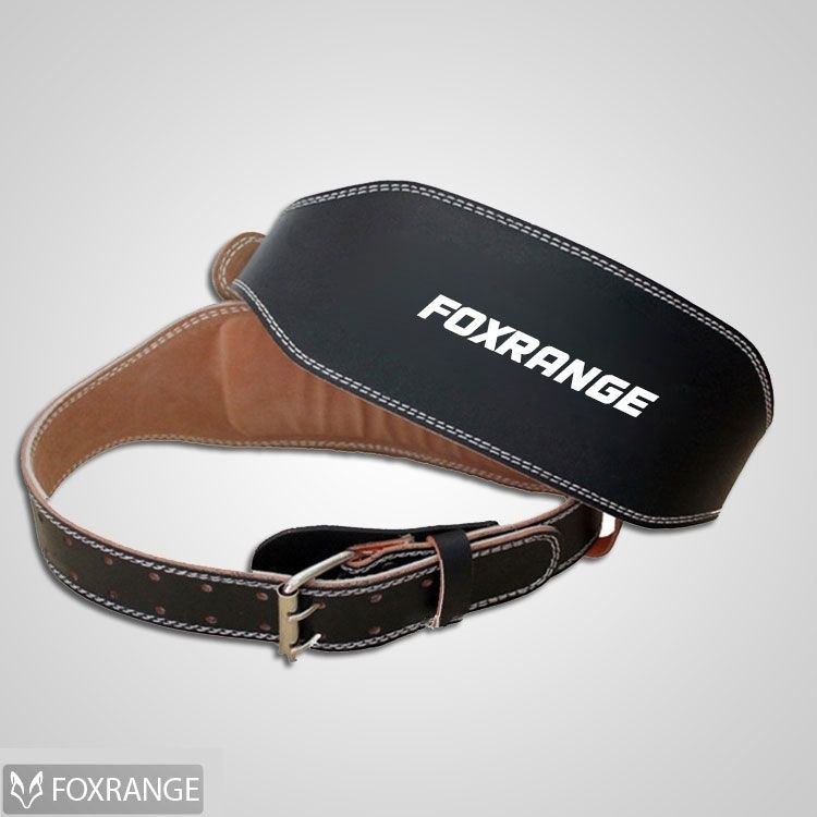 Black Leather Weight Lifting Belt