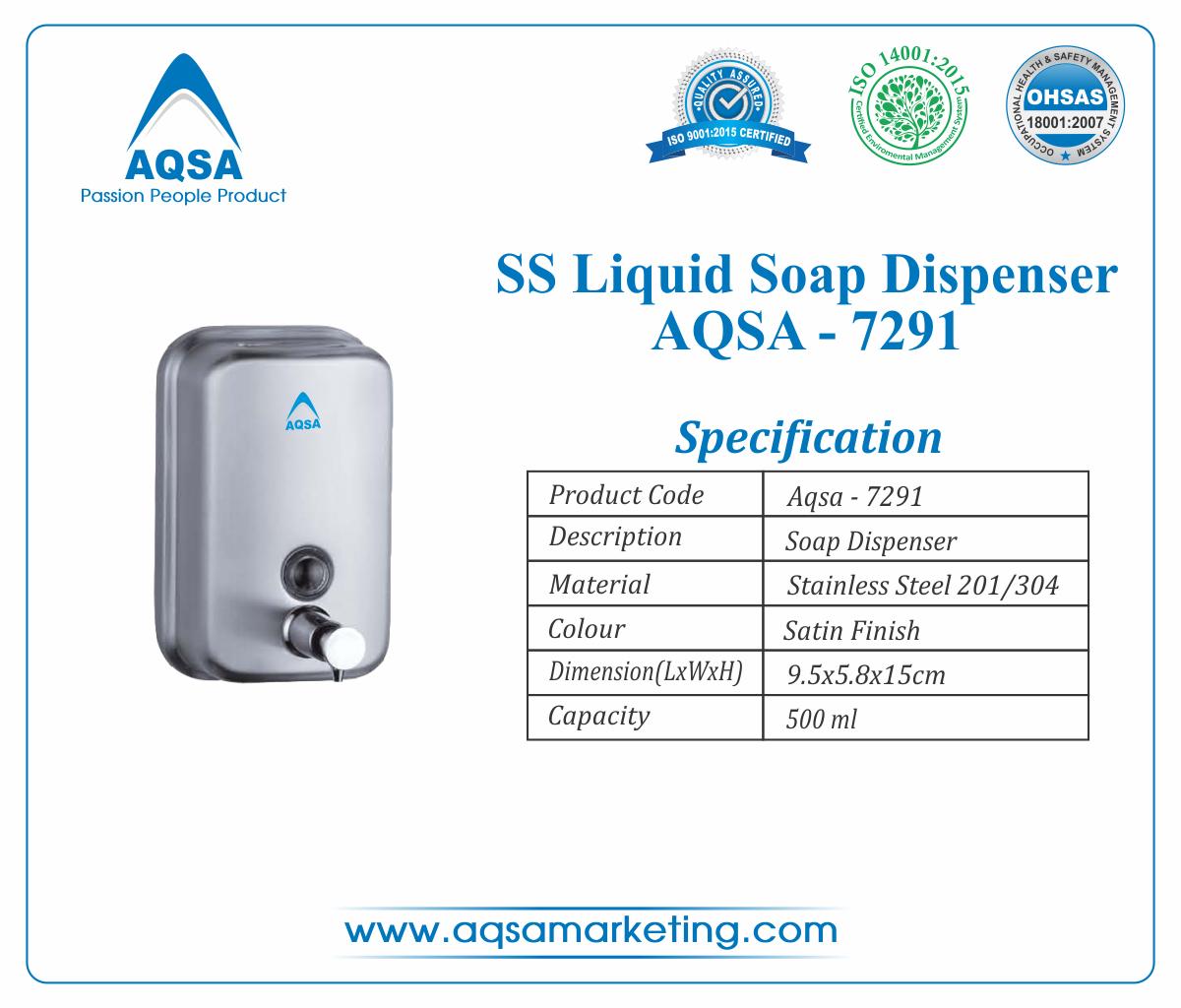 SS Soap Dispenser 500 ml