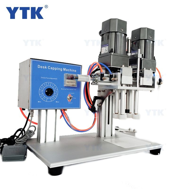 YTK-6100 Twist Off Trigger Semi  Spray PET Plastic Bottle Capping Machine for Screw Capper Lock