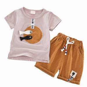 2017 Summer Baby Boys Clothing Sets 2PCS Comfortable Fabric T Shirt + Shorts Jeans