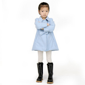 2LYF228 2018 Hot Low Price Winter O-Neck Pocket Bowknot Baby Girl Winter Coat