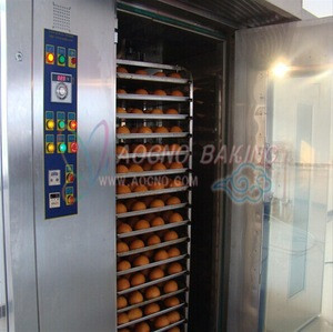 32trays breadtrolley electrical rotary rack oven