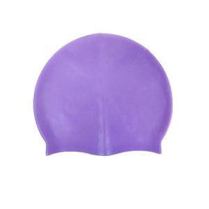 Adult silicone swimming cap waterproof silicone cap multi - color customizable