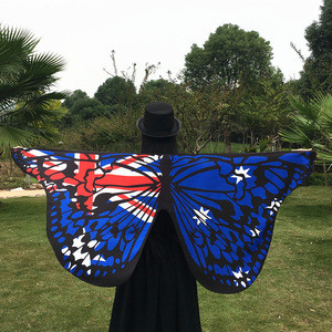 Australia Market Flag Costume Cape Patriotic Flag Cloak for Women Dancing Party