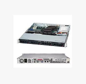 "CSE-822T-400LPB 400W Power Supply w/ PFC 1 External 5.25"" Drive Bays Black 2U Rackmount Server Case"