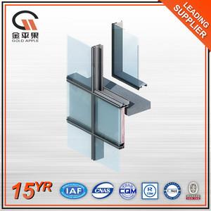 Custom Building Exterior Insulated Profile Aluminium Glass Curtain Wall