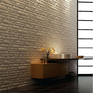 Fashion China supplier lowest price interior decoration 3d wall panel board stone design 3d wall panel