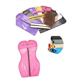 Hair extension packaging for hair bundles/custom hair garment bags with hanger