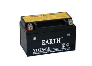 High capacity YTX7A-BS mf gel motorcycle battery 12v