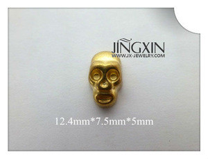 Hot Sell Cool Skull Shape Colored Beads For Jewelry Making Garment Decoration
