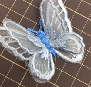 Hot sell handmade beautiful butterfly embroidery patch for bag