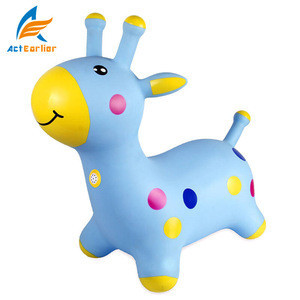 Kids Animal soft horse jumping toy,PVC inflatable jumping horses,durable Jumping Horse Toys for Sale