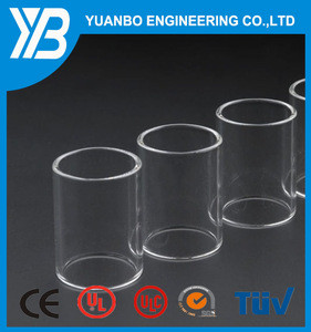 Large diameter glass tube, large diameter quartz glass tube, heat resistant glass tube