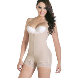 Latex Body Aide Slimming Bodysuit Shaper with Upper Thigh Control