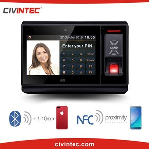 Optional WIFI/GPRS facial recognition biometric time attendance system with smart card reader