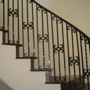 Outdoor wrought iron straight stair design