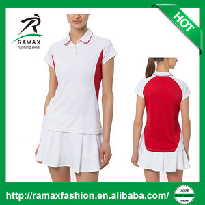 Ramax Custom Women Sports Tennis Polo T Shirt With 100% Polyester