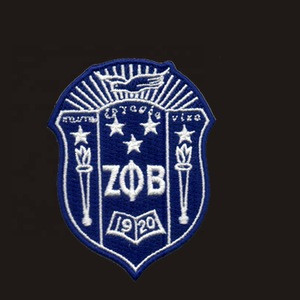 Ron-On Patch Zeta Phi Beta Shield Design Embroidered Patch for clothing