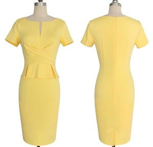 Stylish formal occasions ladies office wear dresses dress